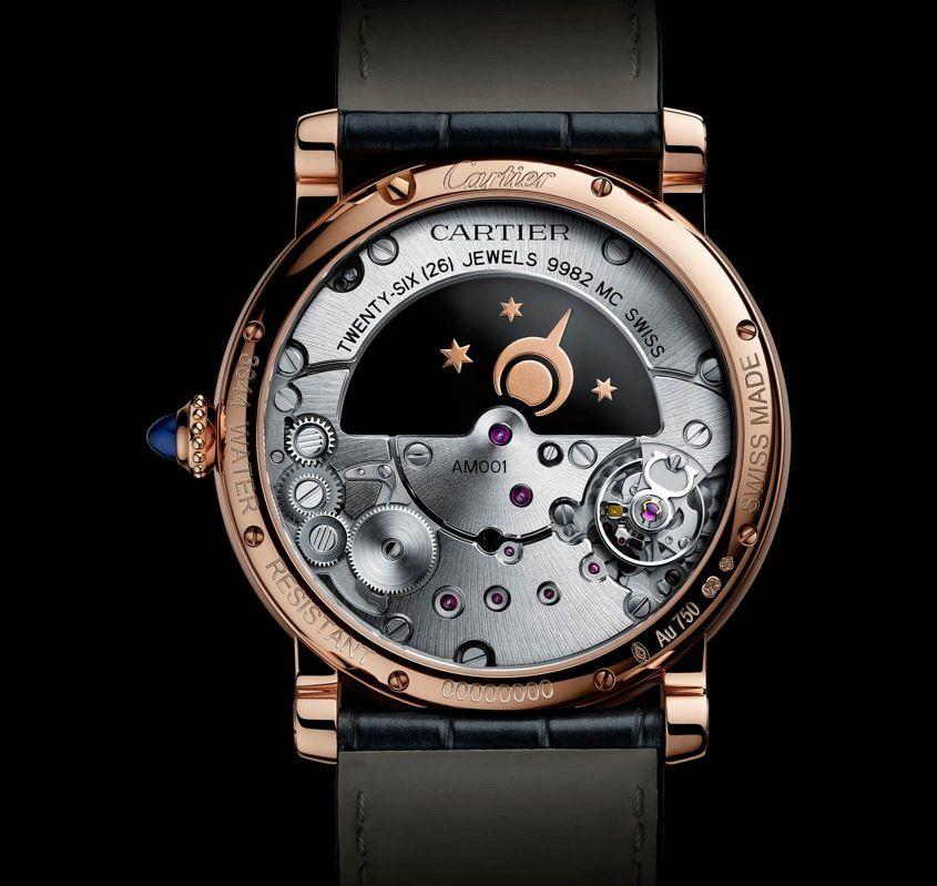 Cartier Rotonde De Cartier Mysterious Day Night Replica Reloj